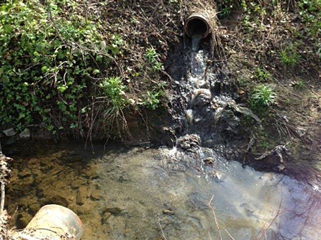 Broken Sewage Line