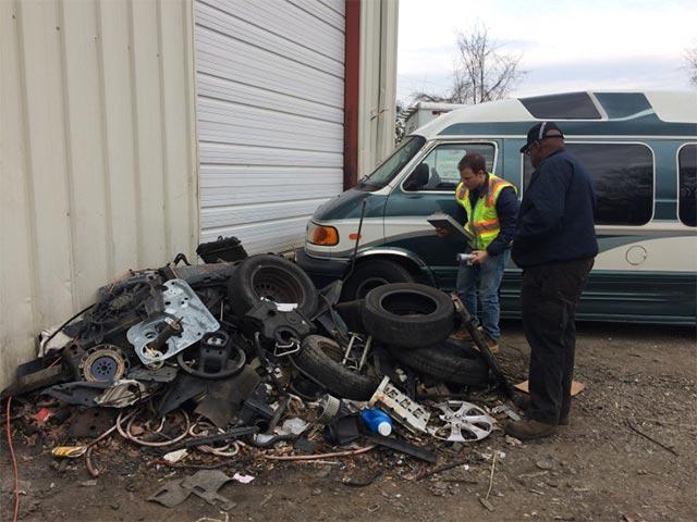 Auto parts left outside